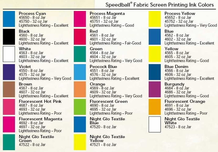 Speedball Fabric Screen Printing Ink 32oz