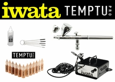 Airbrush Makeup Kit with Iwata Neo CN Airbrush and Ninja Jet Compressor