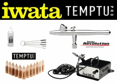 Airbrush Makeup Kit with Iwata Revolution Airbrush and Ninja Jet Compressor