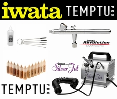 Airbrush Makeup Kit with Iwata Revolution Airbrush and Silver Jet Compressor