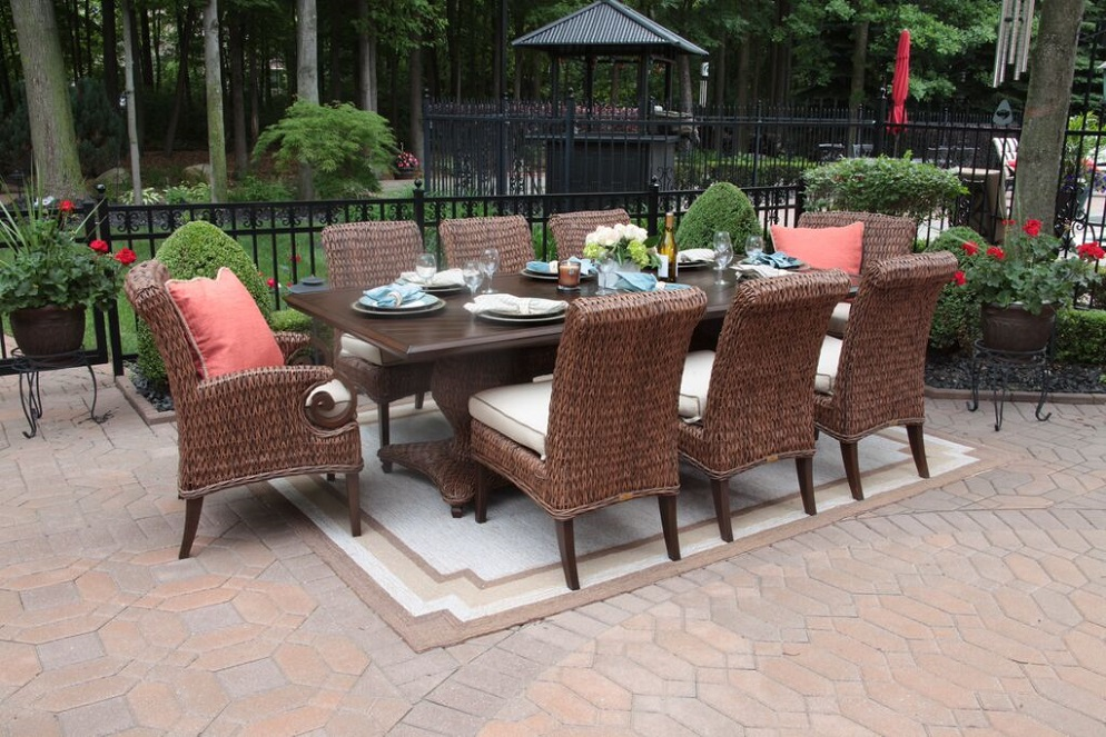 aerin collection all weather wicker luxury patio furniture