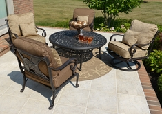 The Amalia Collection 4-Person Cast Aluminum Deep Seating Patio Furniture Conversation Set