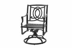 Bel Air By Gensun Luxury Cast Aluminum Patio Furniture Swivel Dining Chair