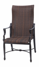 Bel Air By Gensun Luxury Cast Aluminum Patio Furniture Woven High Back Dining Chair