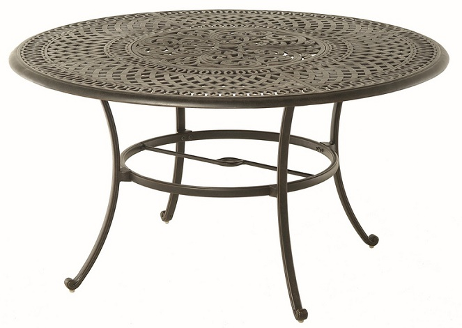 Bella By Hanamint Luxury Cast Aluminum 54quot Round Dining  : bella by hanamint luxury cast aluminum 54 round dining table w inlaid lazy susan 3 from www.openairlifestylesllc.com size 663 x 471 jpeg 99kB