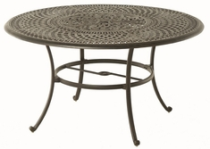 "Bella By Hanamint Luxury Cast Aluminum 54"" Round Dining Table W/Inlaid Lazy Susan"