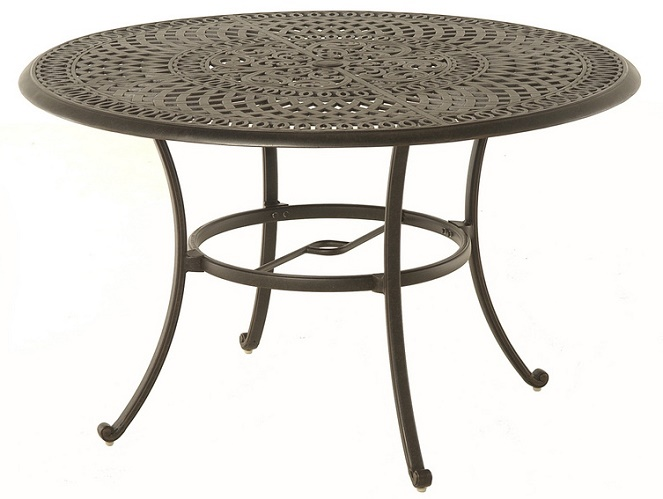 hanamint luxury cast aluminum patio furniture 48 round dining table