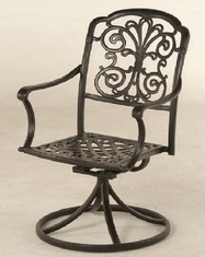 Bella By Hanamint Luxury Cast Aluminum Patio Furniture Swivel Dining Chair