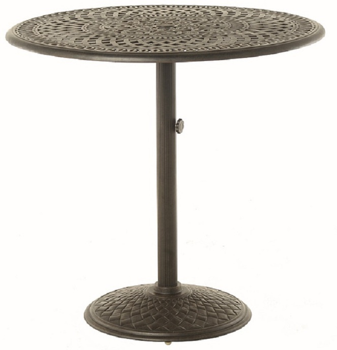 Counter Height Round Pedestal Table : ... Hanamint Luxury Cast Aluminum 42