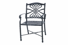 Bella Vista By Gensun Luxury Cast Aluminum Patio Furniture Stationary Dining Chair
