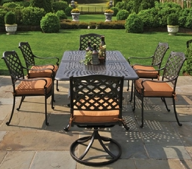 Cast Aluminum Patio Furniture Heart Pattern: Berkshire By Hanamint 6-Person Luxury Cast Aluminum Patio