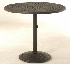 "Berkshire By Hanamint Luxury Cast Aluminum 42"" Pedestal Counter Height Table"