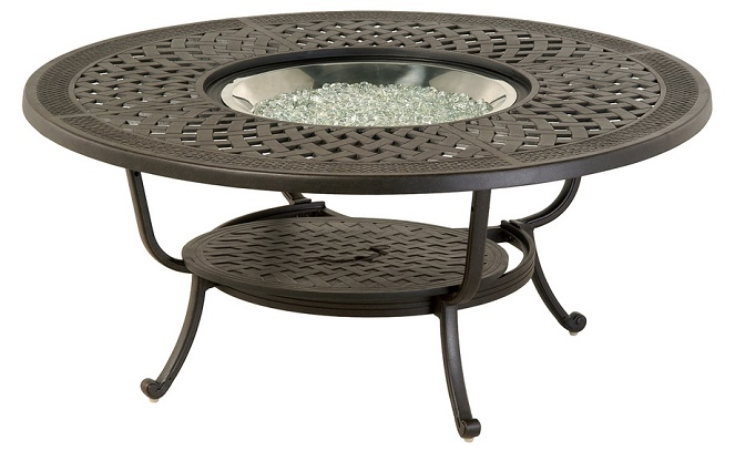 "Berkshire By Hanamint Luxury Cast Aluminum Patio Furniture 48"" Round Fir"