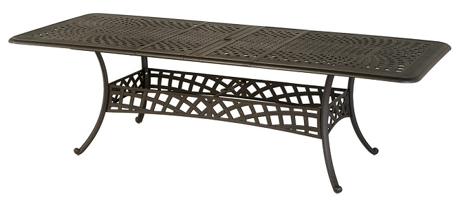 Berkshire By Hanamint Luxury Cast Aluminum Patio Furniture Rectangular Extens