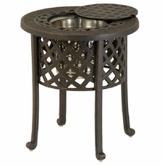 Berkshire By Hanamint Luxury Cast Aluminum Patio Furniture Round Ice Bucket Side Table