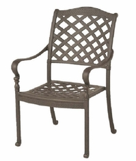 Berkshire By Hanamint Luxury Cast Aluminum Patio Furniture Stationary Dining Chair