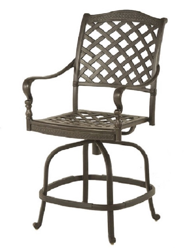 Berkshire By Hanamint Luxury Cast Aluminum Patio Furniture Swivel Counter Hei