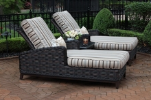 Cassini Collection All Weather Wicker Patio Furniture 2-Person Chaise Lounge Chat Set