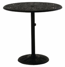 "Chateau By Hanamint Luxury Cast Aluminum 42"" Round Pedestal Bar Height Table"