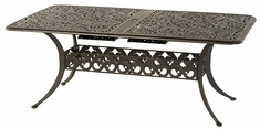 "Chateau By Hanamint Luxury Cast Aluminum 42"" x 76"" Rectangular Extension Dining Table"