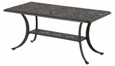 """Chateau By Hanamint Luxury Cast Aluminum Patio Furniture 24"""" x 45"""" Rectangular Chat Table"""