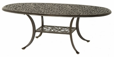 """Chateau By Hanamint Luxury Cast Aluminum Patio Furniture 28"""" x 60"""" Oval Coffee Table"""