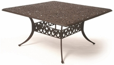 "Chateau By Hanamint Luxury Cast Aluminum Patio Furniture 60"" Square Dining Table"
