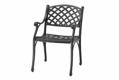 Columbia By Gensun Luxury Cast Aluminum Patio Furniture Stationary Dining Chair