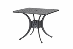 "Coordinate By Gensun Luxury Cast Aluminum Patio Furniture 30"" Square Dining Table"