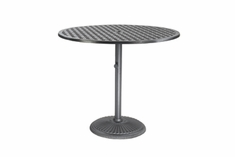 "Coordinate By Gensun Luxury Cast Aluminum Patio Furniture 36"" Round Pedestal Bar Table"