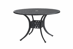 "Coordinate By Gensun Luxury Cast Aluminum Patio Furniture 48"" Round Dining Table"