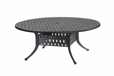 """Coordinate By Gensun Luxury Cast Aluminum Patio Furniture 54"""" Round Chat Table"""