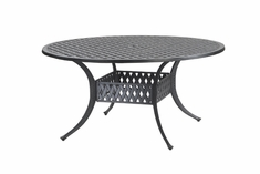 "Coordinate By Gensun Luxury Cast Aluminum Patio Furniture 60"" Round Dining Table"