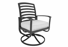 Edgewood By Alu-Mont Luxury Cast Aluminum Patio Furniture Swivel Dining Chair