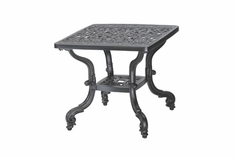 """Florence By Gensun Luxury Cast Aluminum Patio Furniture 21"""" Square End Table"""