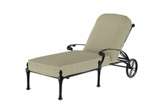 Florence By Gensun Luxury Cast Aluminum Patio Furniture Chaise Lounge