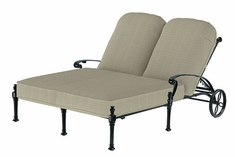 Florence By Gensun Luxury Cast Aluminum Patio Furniture Double Chaise Lounge