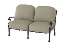 Florence By Gensun Luxury Cast Aluminum Patio Furniture Loveseat