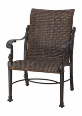 Florence By Gensun Luxury Wicker Patio Furniture Standard Back Dining Chair