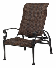 Florence By Gensun Luxury Wicker Patio Furniture Reclining Chair