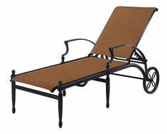 Florence By Gensun Luxury Padded Sling Padded Furniture Chaise Lounge