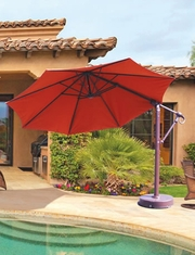 Galtech 11' Cantilever Offset Patio Umbrella Aluminum