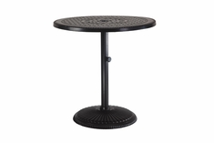 "Grand Terrace By Gensun Luxury Cast Aluminum Patio Furniture 36"" Round Pedestal Dining Table"