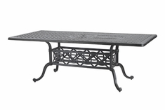 "Grand Terrace By Gensun Luxury Cast Aluminum Patio Furniture 42"" x 63"" Rectangle Dining Table"