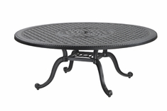 """Grand Terrace By Gensun Luxury Cast Aluminum Patio Furniture 48"""" Round Chat Table"""