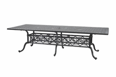 "Grand Terrace By Gensun Luxury Cast Aluminum Patio Furniture 48"" x 112"" Rectangle Dining Table"