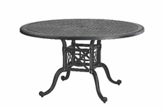 "Grand Terrace By Gensun Luxury Cast Aluminum Patio Furniture 54"" Round Dining Table"