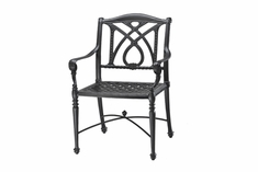 Grand Terrace By Gensun Luxury Cast Aluminum Patio Furniture Stationary Dining Chair