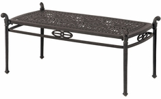 """Grand Tuscany By Hanamint Luxury Cast Aluminum 21"""" x 42"""" Patio Furniture Coffee Table"""