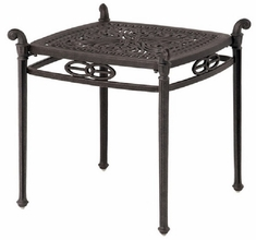 """Grand Tuscany By Hanamint Luxury Cast Aluminum Patio Furniture 21"""" Square End Table"""